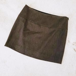 Express Grey Mini Skirt Size: 2